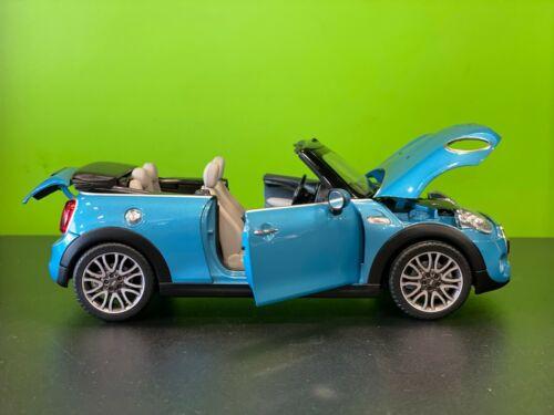 Mini Cooper F57 Cabrio Convertible Diecast 1:18 Model Car Electric Blue 2405584
