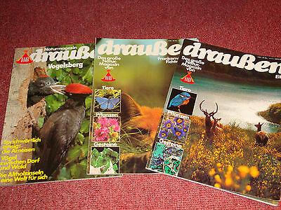 Draußen - Das Naturmagazin (HB) * 3 Ausgaben * 1979+1982
