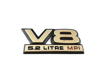 91-94 DODGE DAKOTA V8 5.2 LITRE MPI SIDE EMBLEM LOGO SIGN W/ ADHESIVE OEM (1992)