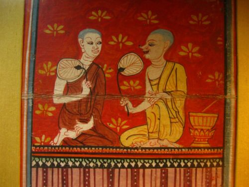 Temple Painting Buddha Buddhist Betel Nut Chewer Thai 1800s Wah Cheong Hong Kong