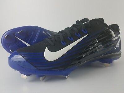 the best attitude 6a279 bcb08 Nike Lunar Vapor Pro Low Metal Baseball Cleats Men s Size 11 Black Blue  683895