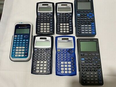 Ti-34 Multiview, Ti-30xiis, Ti-81, Ti-82 Scientific Calculators Lot