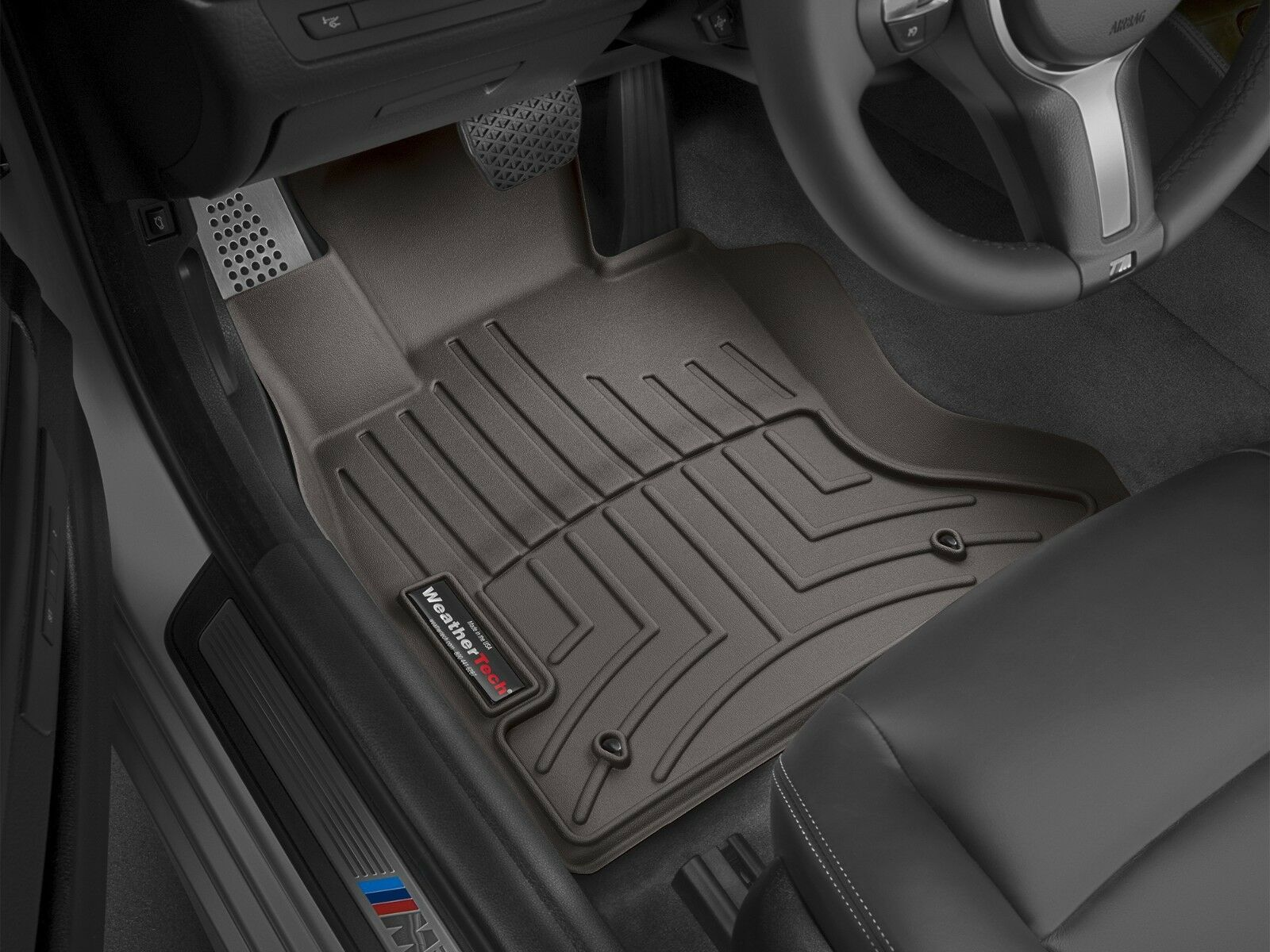 WeatherTech Custom Fit Front FloorLiner for Select BMW Models Black