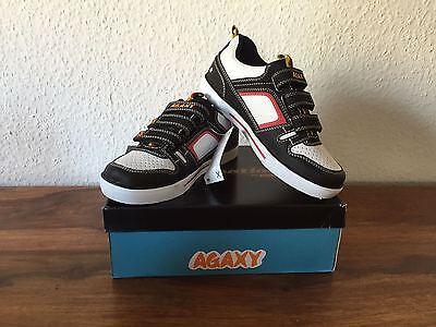 AGAXY Kinder Schuhe mit Lichteffekt schwarz/weiß Gr. 33 NEU OVP !!