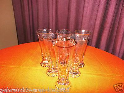 6 antike Biergläser / Gläser ca.1910 / mundgeblasen und geeicht 4/20 L / Sammler