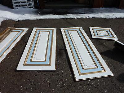 50 Linear Feet Pale Green Antique Wainscot Shabby Vtg Chic Crafts Frames 72-19J