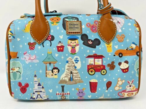 Disney Dooney and & Bourke Jerrod Maruyama Annual Passholder AP Barrel Satchel A