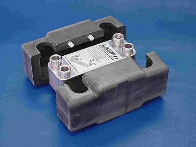 Edelstahl Plattenwärmetauscher B3-12A-12 35kW mit Dämmschale Solartauscher