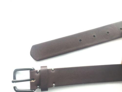 UPTON Delta Leather Belt Brown (size: 38)