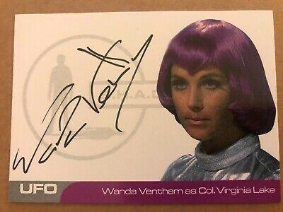UFO SERIES 2: AUTOGRAPH CARD: WANDA VENTHAM AS COL.VIRGINIA LAKE WV4 - BLACK INK for sale  United Kingdom