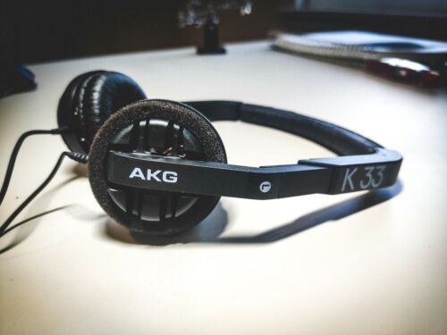 Extremely Rare Vintage On Ear Headphones AKG K33 with Unique adjusting Mechanism