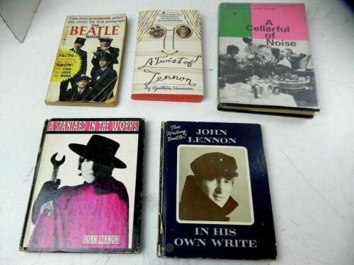 Beatles books 5 original authentic vintage 1964 1965 1966 1st edition collectors