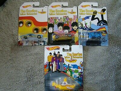 2019 HOT WHEELS YELLOW SUBMARINE 4 CAR LOT