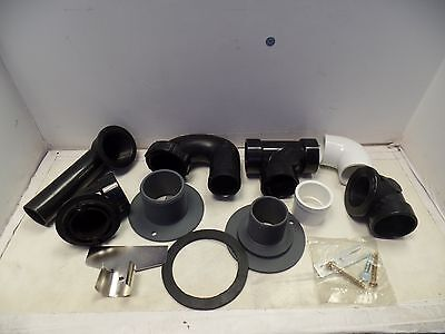 Lot Of 11 Plumbing Accessories 90 Degree 1-14 Elbow Pvc Pipe Fittings Etc.