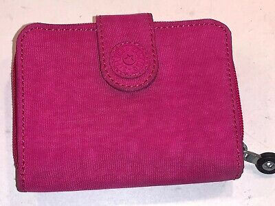 Kipling New Money Wallet Pink AC2399-485 Snap Zip Around