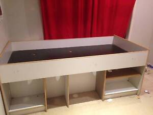 Solid wooden mid loft single bed Lawnton Pine Rivers Area Preview