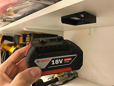 5x Stealth Mounts for BOSCH 18v BATTERY Holder Slot Shelf Rack Stand Van Drill