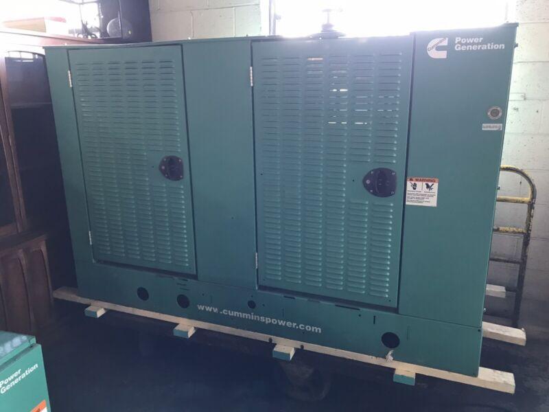 Cummins Power Generation 60kw Backup Generator + Transfer Switch