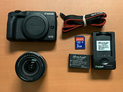 CANON EOS M3 24.2MP MIRRORLESS CAMERA + 18-55MM F/3.5-5.6 + ACCESSORIES