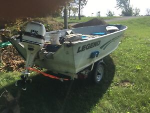 Legend 149v with 20hp Johnson and trailer