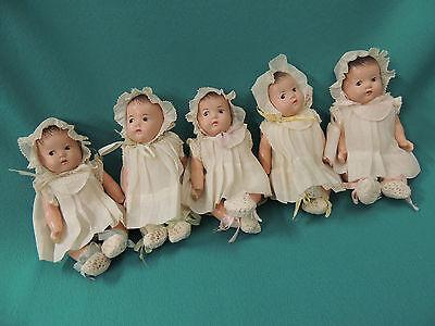 1930's Madame Alexander Dionne Quintuplet Baby Dolls Original Clothes CLEAN!