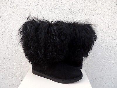 UGG LIDA TALL LONG MONGOLIAN SHEEPSKIN CUFF BOOTS, WOMEN US 6/ EUR 37 ~NEW for sale  Ventura