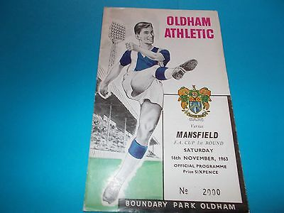 1963-64 Oldham Athletic v Mansfield Town FAC