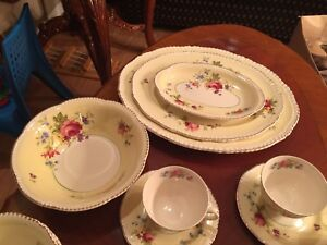 England Ivory Wave tea cups, bowls, dishes ... for sale.