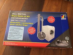 Dundas Jafine all metal dryer hook up kit (new)