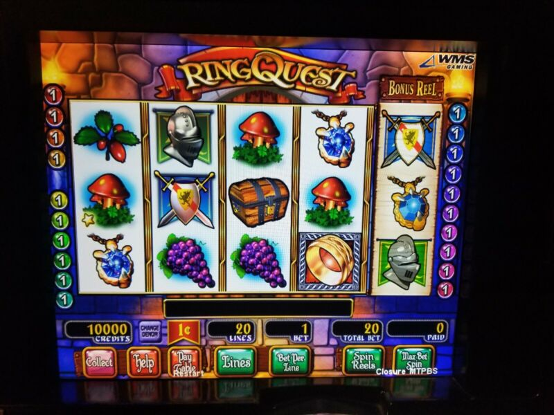 WMS RING QUEST BB1 OR BB1 DUAL SCREEN SLOT GAME SOFTWARE WILLIAMS BLUEBIRD 1