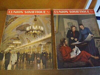 4 x ancienne revue mensuel L'UNION SOVIÉTIQUE .......1952.......1953