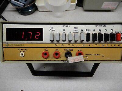 Motorola Digital Multimeter By Simpson Powers On Sold As Is