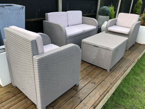 Garden Furniture - Allibert Plastic Rattan Effect Garden Patio Conservatory/summerhouse Furniture