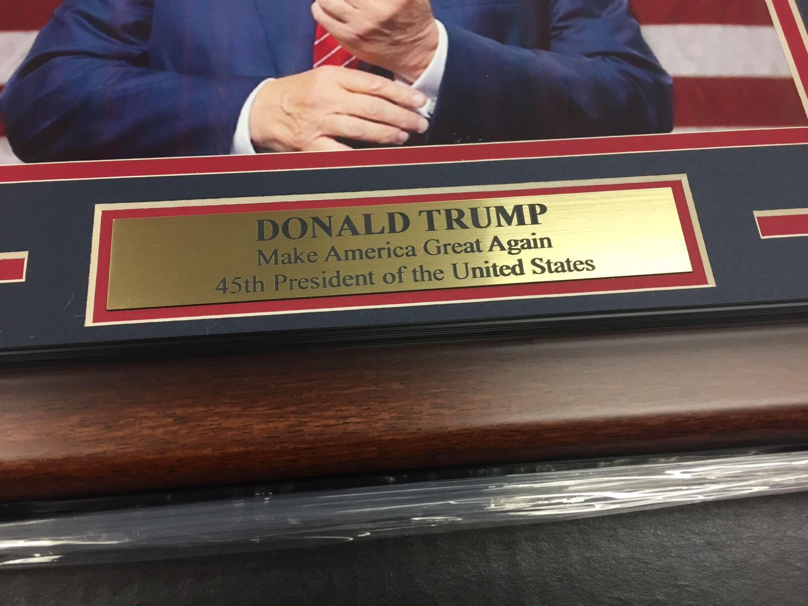 DONALD TRUMP 45TH US PRESIDENT MAKE AMERICA GREAT AGAIN FRAMED 8x10 PHOTO