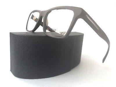 New PRADA Frames Matte Brown Acetate Men RX Eyeglasses VPR 06R TV6-101 53-18-145