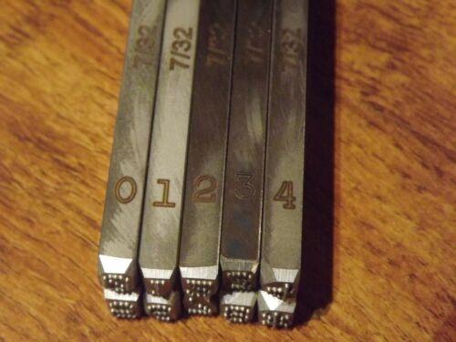 7/32 inch Number Stamp Set for Harley Davidson Punch dot