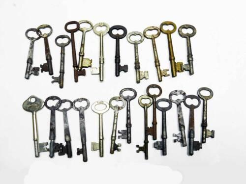 24 Assorted Antique Bit Keys, As Is