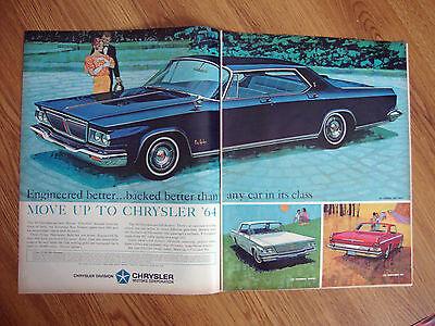 1964 Chrysler Ad New Yorker Newport & Sports-Bred 300 1964 Rambler American Ad