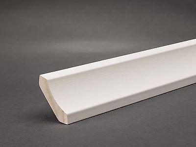 Hohlkehlleiste Weiß Sockelleiste 30mm x 30mm Fußleiste Bodenleiste Holz 4,50€/m