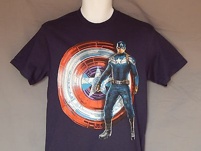 Figur Winter Soldier Poster Kunst Avengers T-Shirt Herren (Captain America Winter Soldier Shirt)