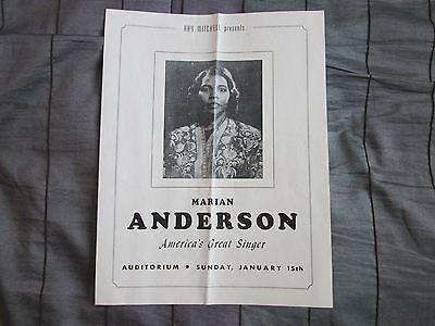 Marian Anderson America's Great Singer Program