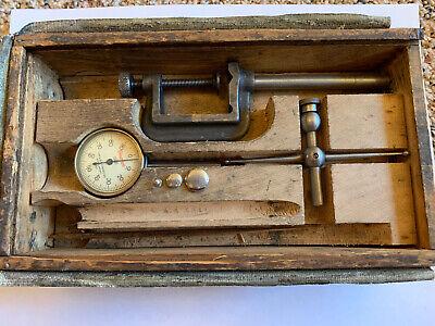 Starrett .001 Back Plunger Dial Test Indicator No.196 W Case