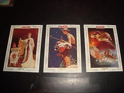 Coca Cola COKE 1993 Collect A Card Promo Cards 1 2 3 Lot NM-M Condition