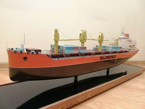 "Vintage Soviet ""QUADRO Nikolaev"" Container Carrier Ship Museum Model of 70"