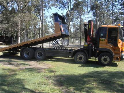 2010 Hino Tilt Tray / Crane Truck Loganholme Logan Area Preview
