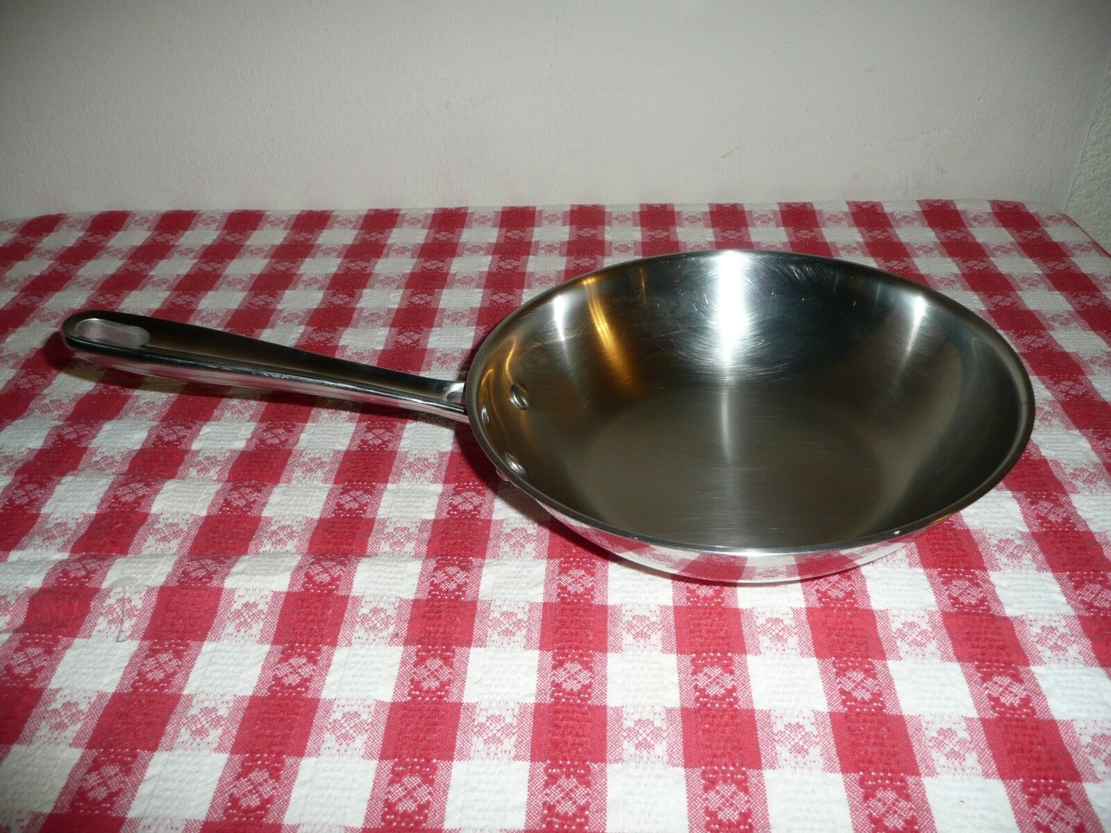 """EMERIL 8"""" SKILLET FRY PAN STAINLESS STEEL COPPER CORE  Made by All Clad"""