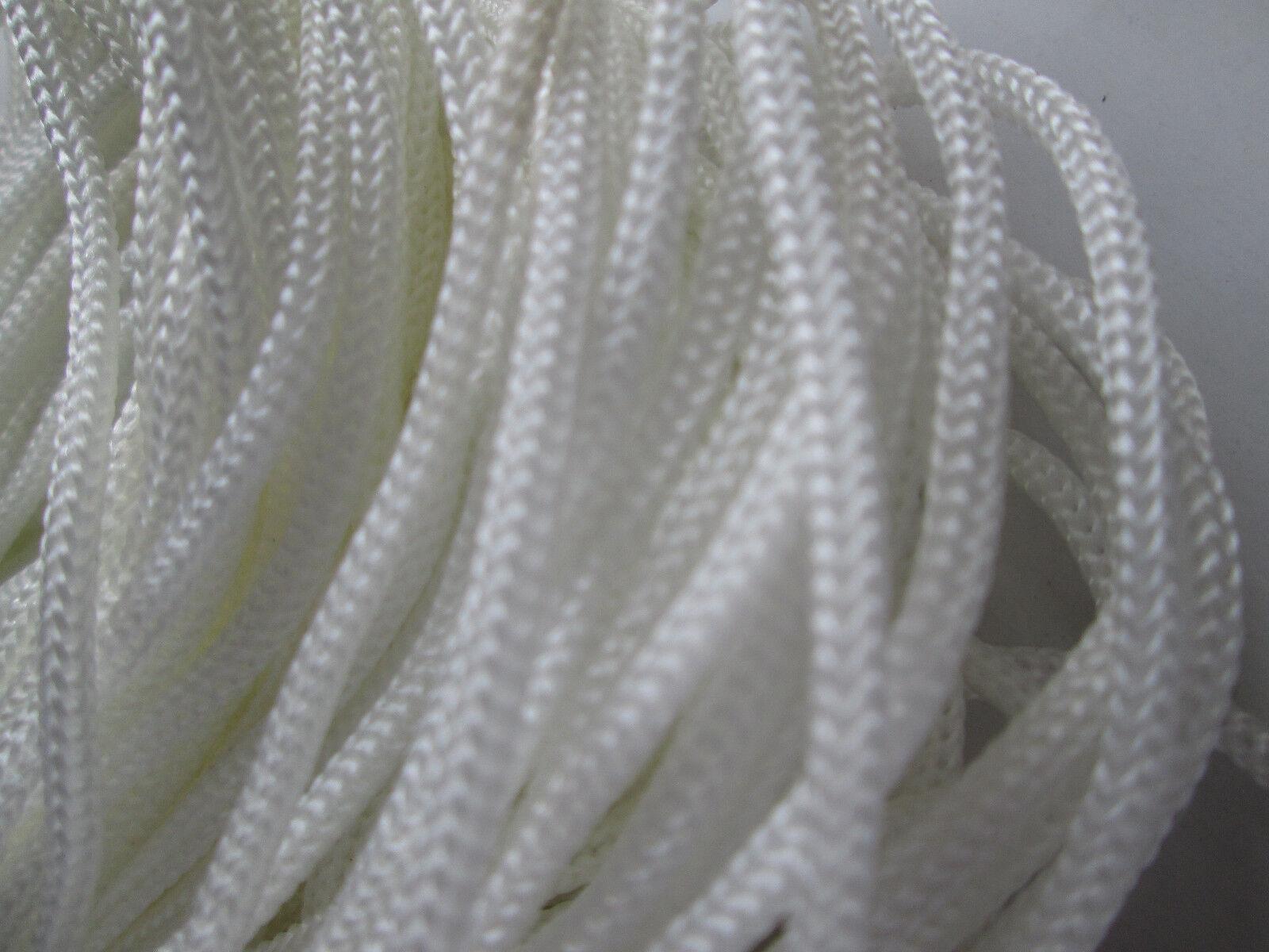 10 METER kordel Satin Weiß 3mm elegante Borte Spitze KR 001