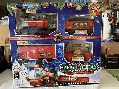 Happy Holiday Express Christmas Train Set ~ 29 Pieces ~ BRAND NEW ~ SMOKE FREE H