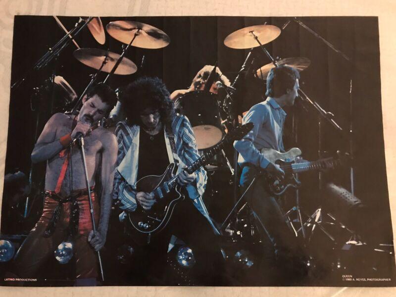 RARE 1980 Vintage Queen Original Poster