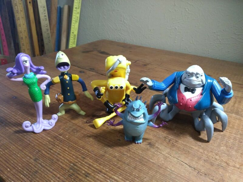 PIXAR DISNEY MONSTERS INC FIGURES MIXED LOT SOME NICE PIECES MISSING ACCESSORIES